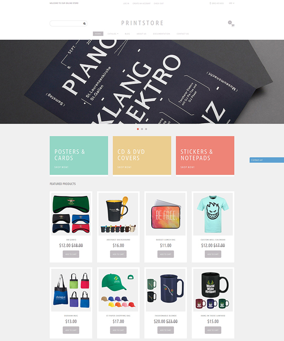 online print stationery shopify themes