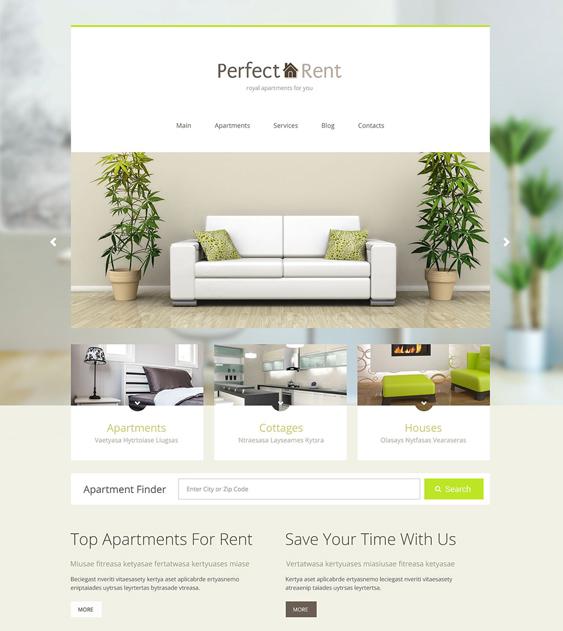 perfect rent real estate wordpress themes