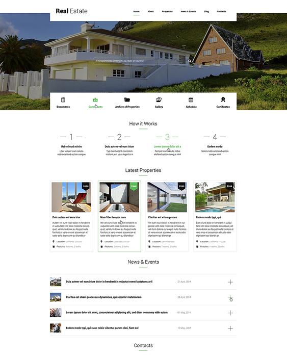 renting real estate wordpress themes