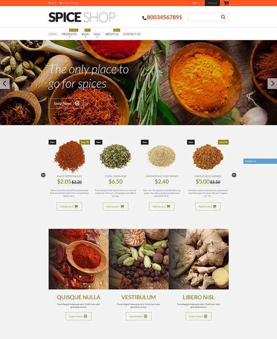 spices shopify themes spice shops