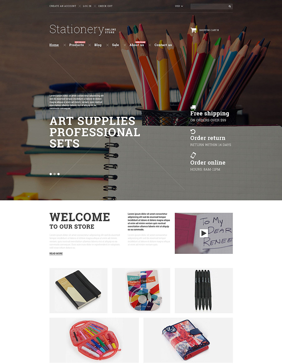 stationery shopify themes goods
