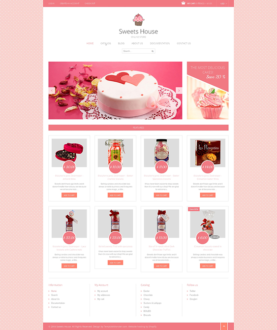 sweet shop 1 food drink shopify themes