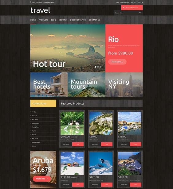 travel dark shopify themes
