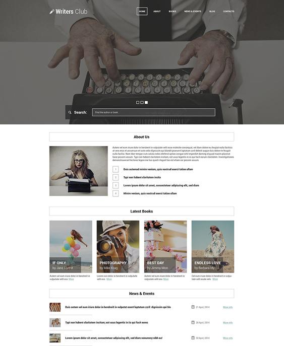 writing spot books writers wordpress themes