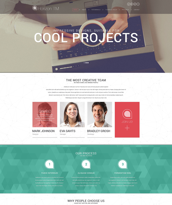 web design resume cv wordpress themes