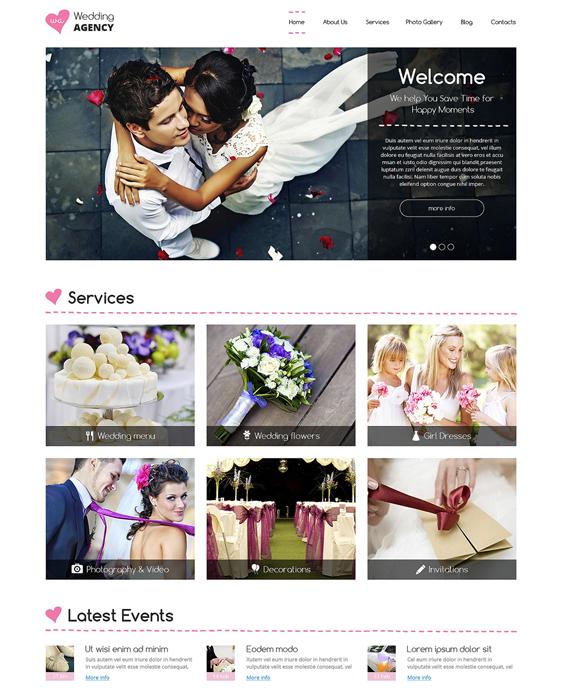 wedding drupal themes planner