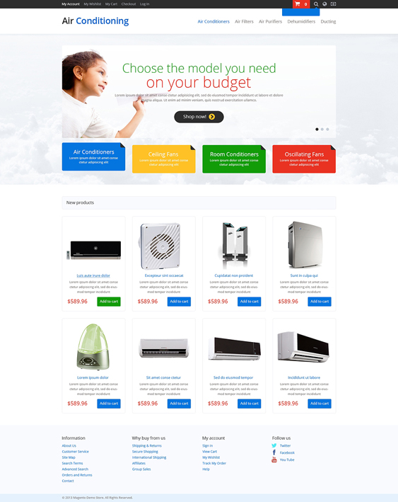 air conditioner hardware home improvement magento themes