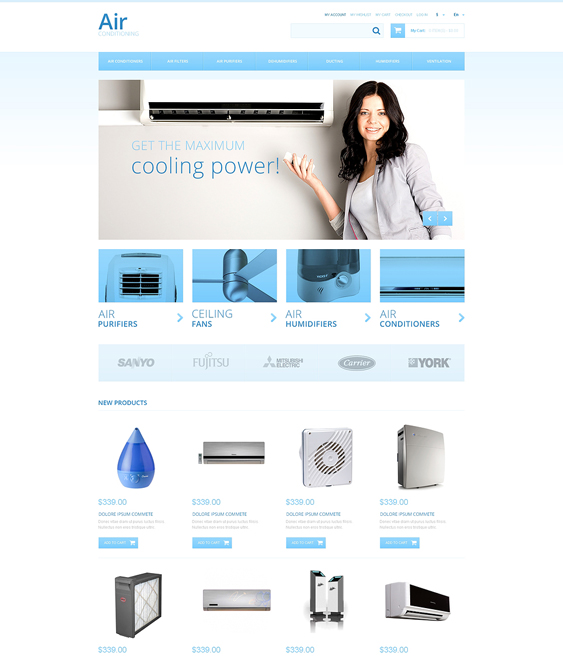 air conditioners hardware home improvement magento themes