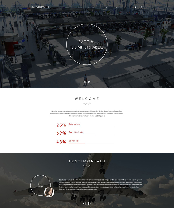 airline clean drupal themes