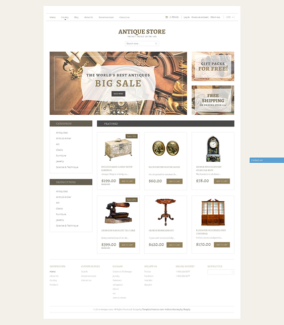 antique home decor interior design shopify themes
