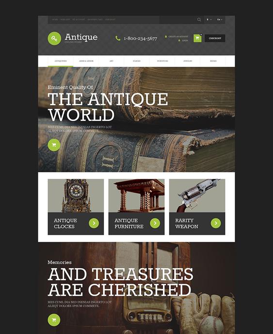 furniture antique store home decor interior design opencart themes