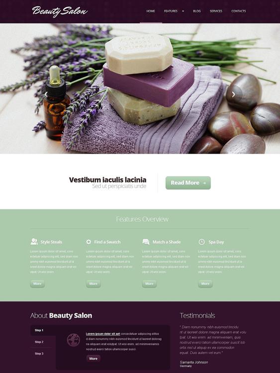 beauty salon spa joomla templates 4