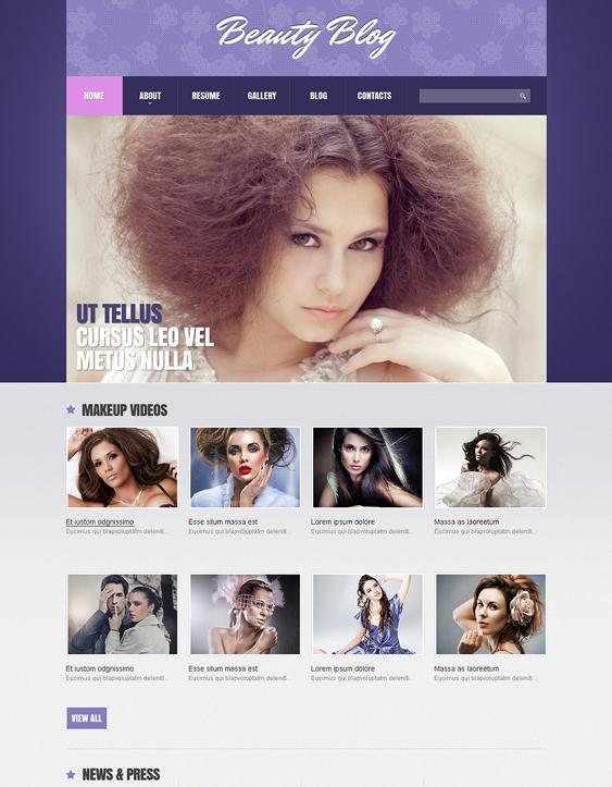 beauty salon spa joomla templates 1
