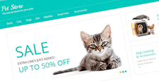 best pets magento themes feature