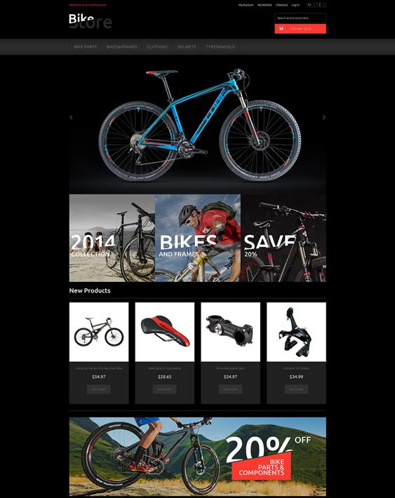 bikes1 dark magento themes