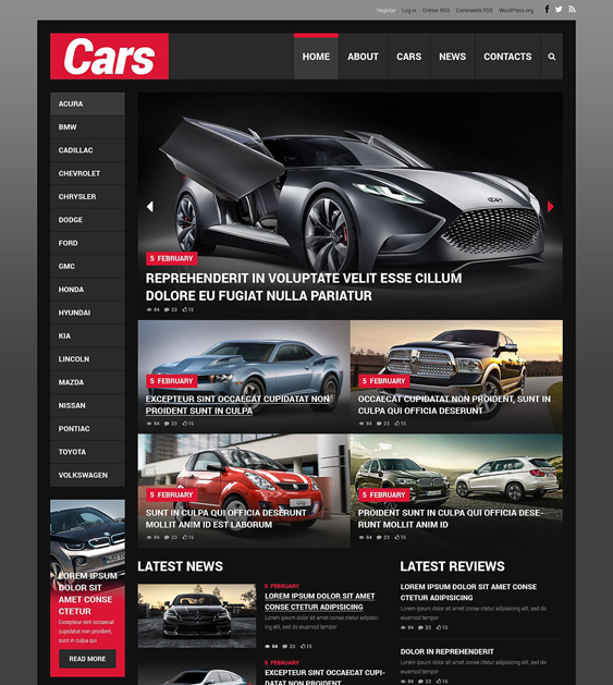 car1 dark wordpress themes