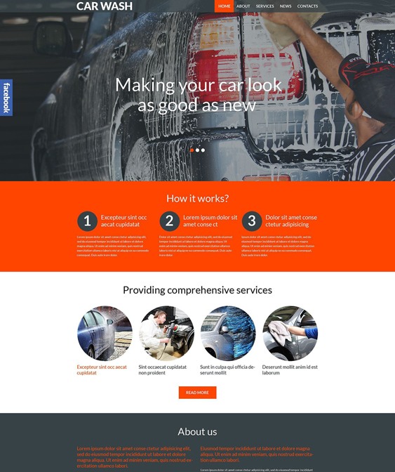 car vehicle automotive wordpress themes wash1