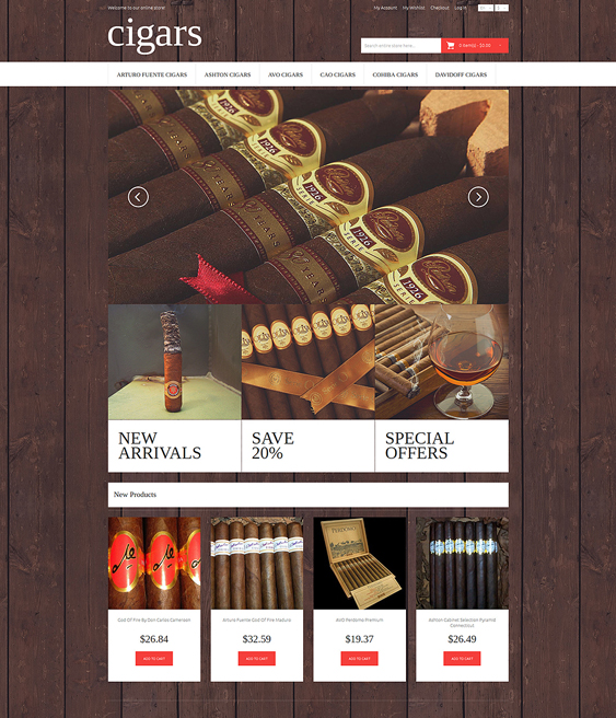 cigar dark magento themes