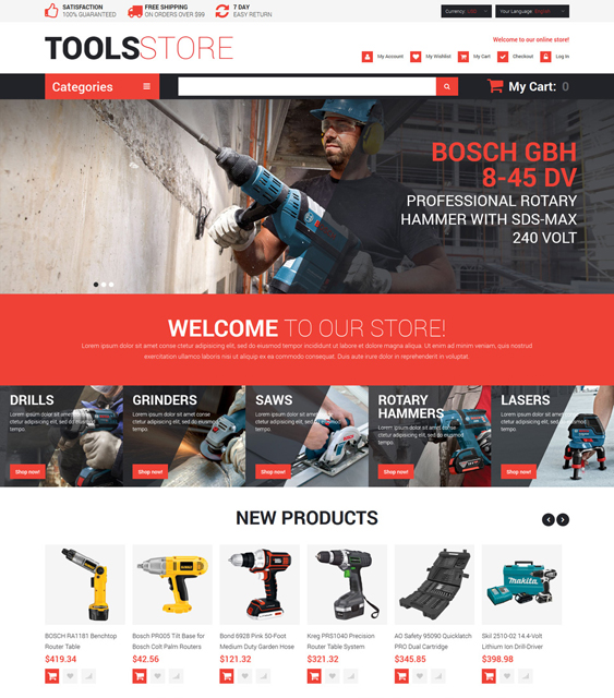 contractor hardware home improvement magento themes