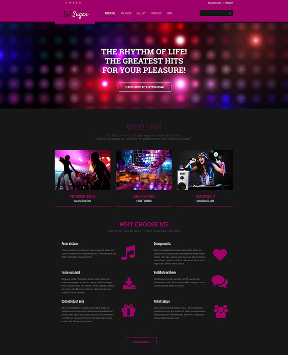 dj dark wordpress themes