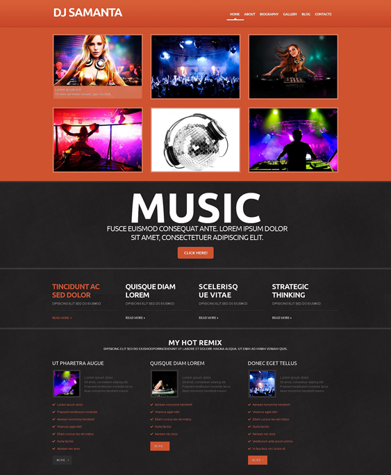 dj responsive1 dark wordpress themes