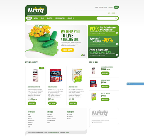 drugstore medical shopify themes 1