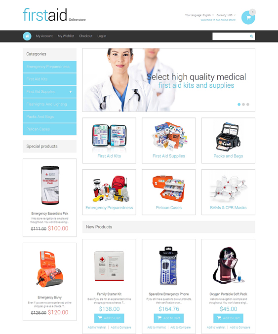 drug store2 medical magento themes