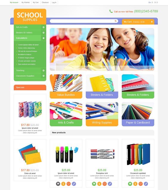 educational kids magento themes