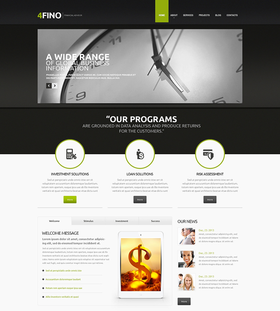 financial finance drupal themes 1
