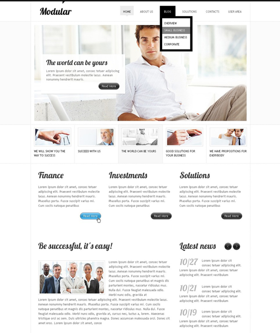 financial finance drupal themes 5
