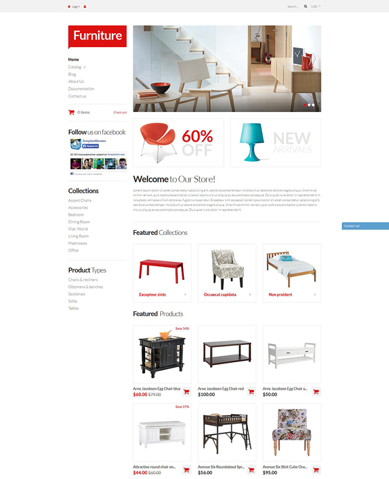 furniture shopify themes 1