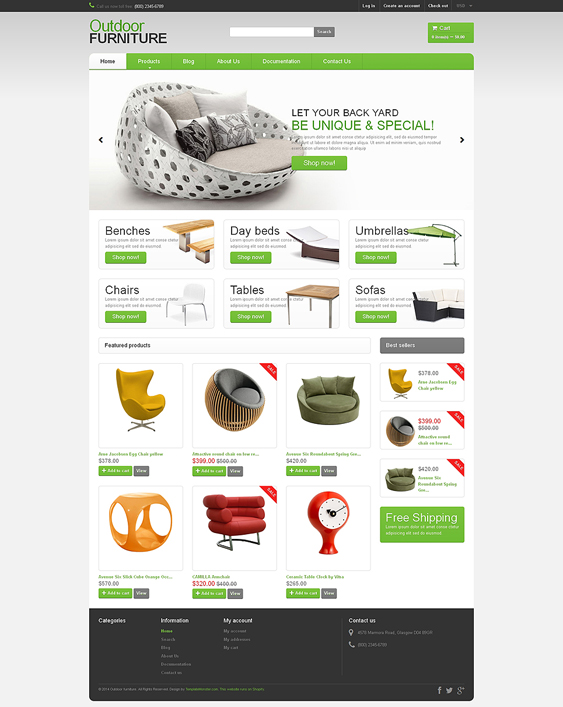 furniture shopify themes 2