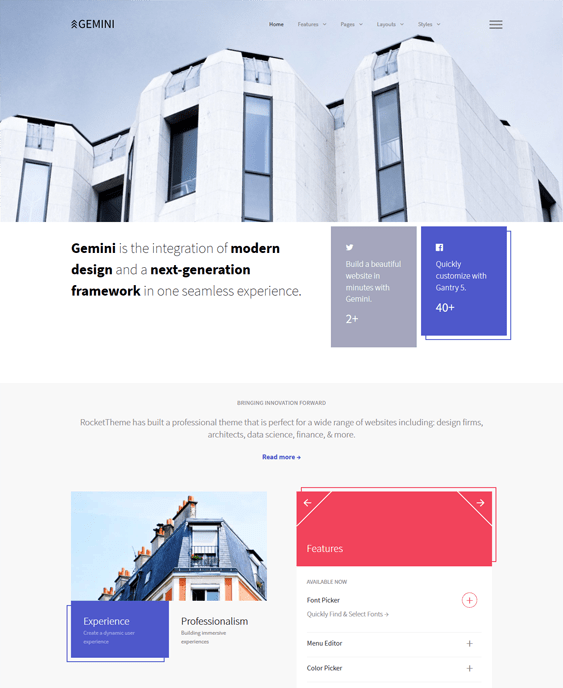 gemini architect wordpress themes