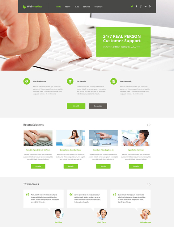 web hosting wordpress themes 1