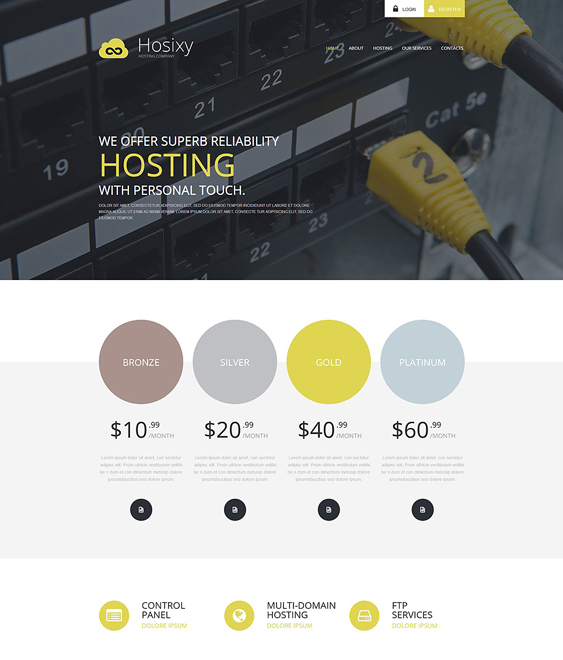 web hosting wordpress themes company