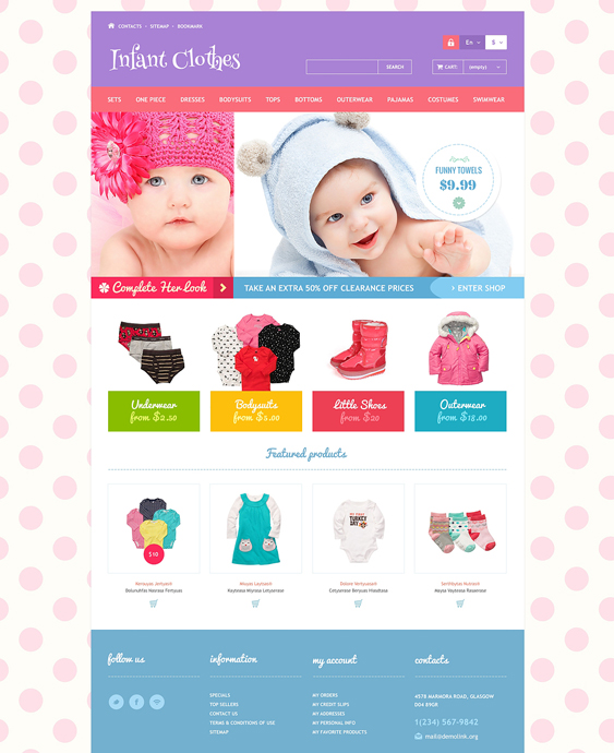 infant clothes1 kids prestashop themes