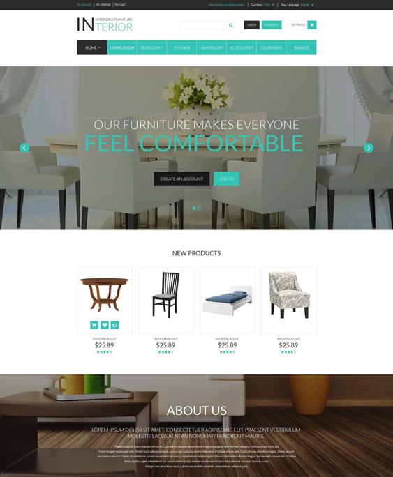 interior furniture magento themes