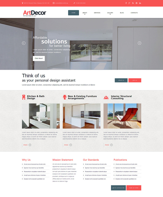 interior design wordpress themes 3