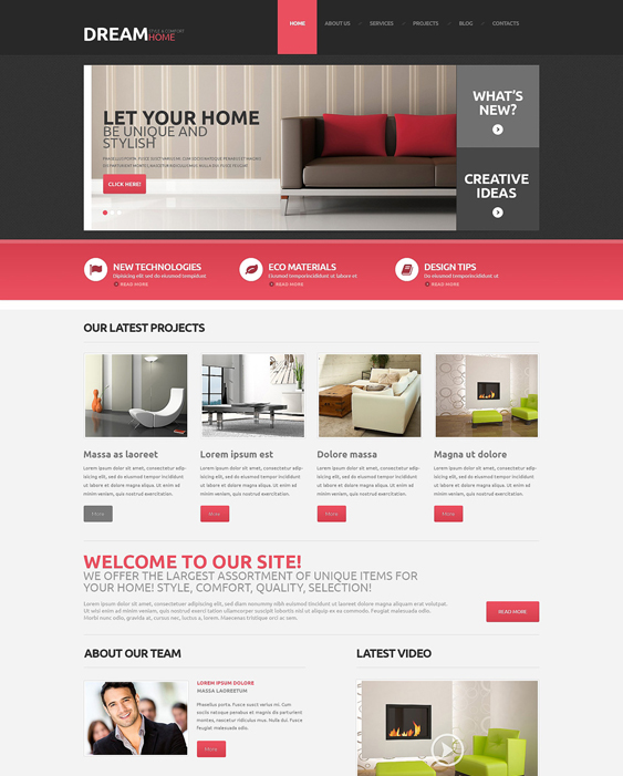 interior design wordpress themes 7