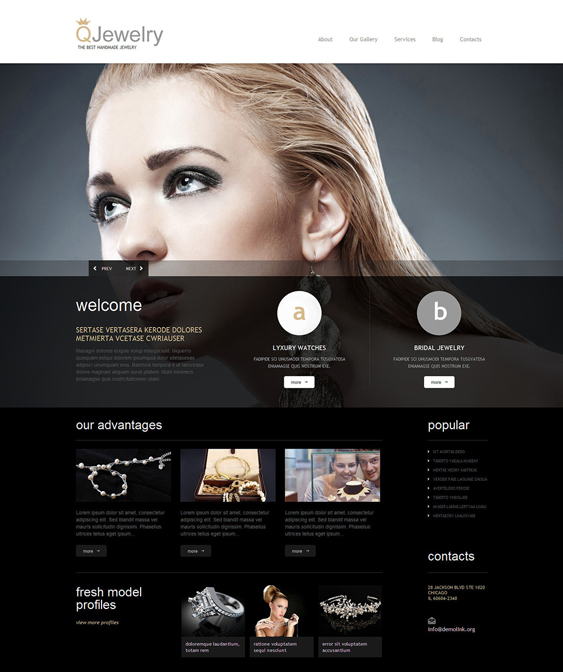 jewelry dark wordpress themes