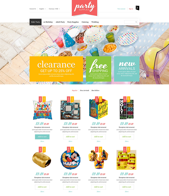 kids prestashop themes party
