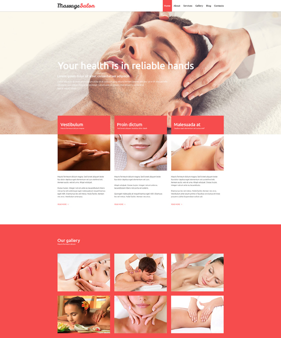 massage beauty salon spa joomla templates