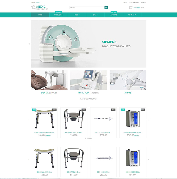 medical clean shopify themes
