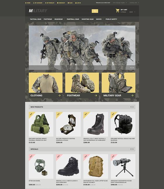 military dark magento themes