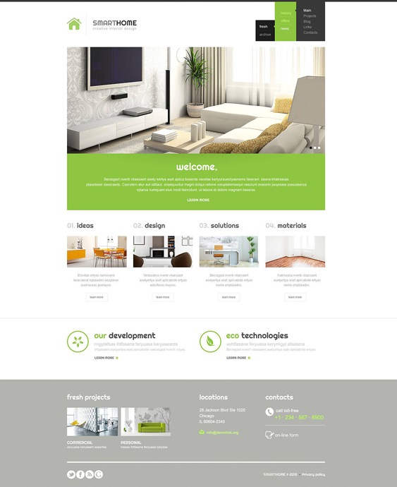 21 the Best Interior Design WordPress Themes – <br />down