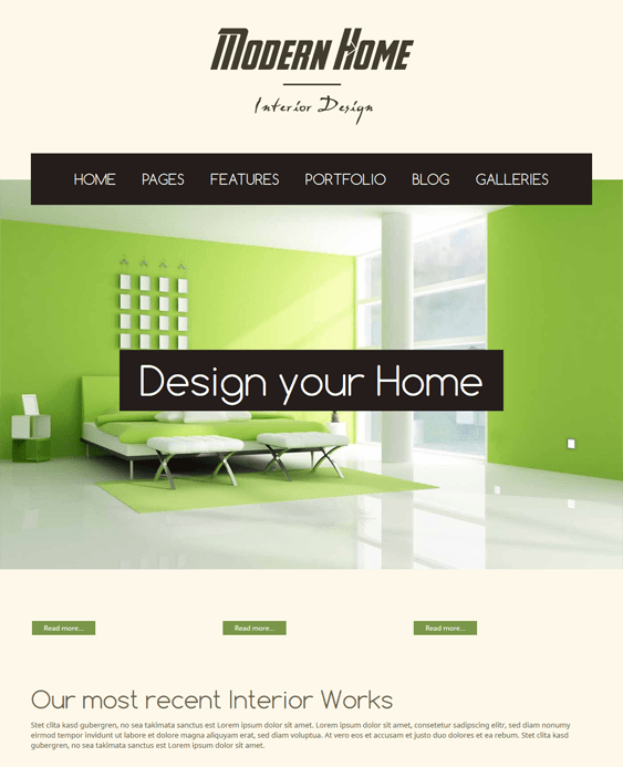 modernhome interior design wordpress themes