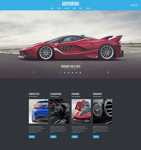 motoring dark wordpress themes
