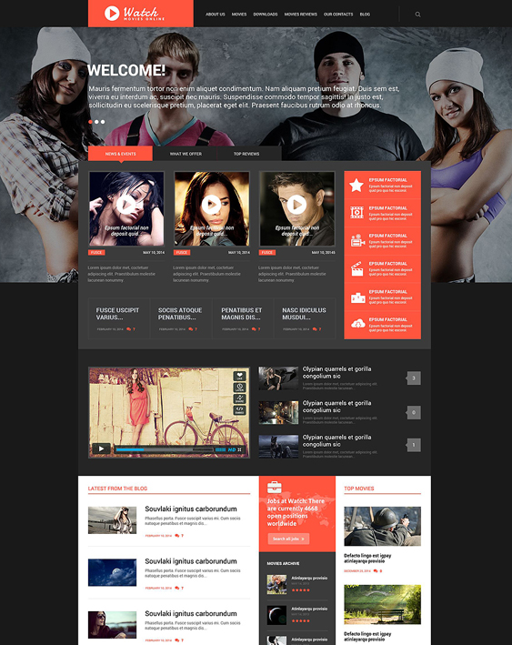 movie dark wordpress themes