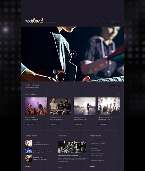 music wordpress themes band3