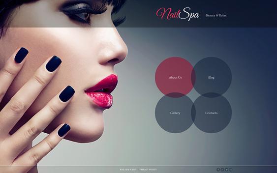 nail beauty salon spa joomla templates